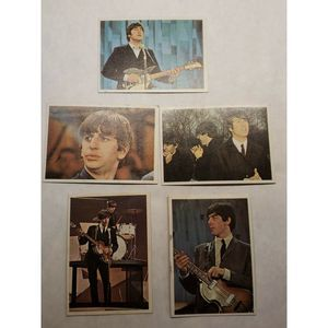 """9 Different 1964 Topps """"Beatles Color Cards"""" Card"""